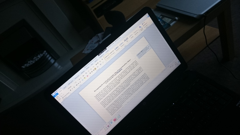 Final revisions to last year's AcWriMo inspired article