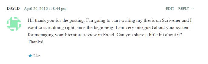 scientific literature review example