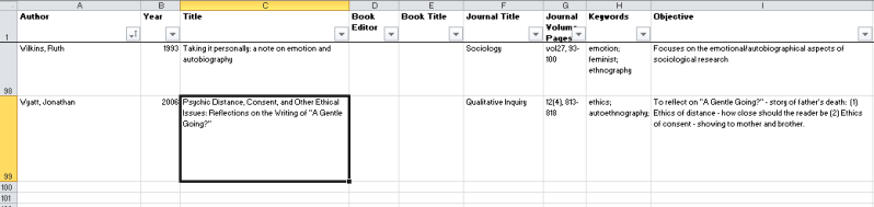 how i use excel to manage my literature review  u2013 a
